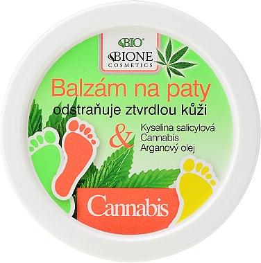 Baume à l'huile de chanvre et d'argan pour pieds - Bione Cosmetics Cannabis Heel Balm Removes Hard Skin