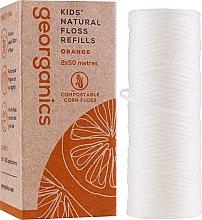 Parfums et Produits cosmétiques Fil dentaire, 2x50 m - Georganics Natural Sweet Orange Dental Floss (recharge)