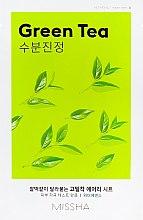 Parfums et Produits cosmétiques Masque en tissu apaisant à l'extrait de thé vert - Missha Airy Fit Green Tea Sheet Mask