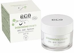Parfums et Produits cosmétiques Crème à l'acide hyaluronique pour visage - Eco Cosmetics Intensive Cream With OPC Q10 & Hyaluron SPF15