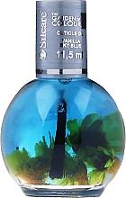 Parfums et Produits cosmétiques Huile pour ongles et cuticules avec fleurs - Silcare The Garden Of Colour Vanilla Sky Blue