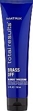 Parfums et Produits cosmétiques Crème thermo-protectrice pour cheveux clairs, sans rinçage - Matrix Total Results Brass Off Blonde Threesome