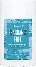 Parfums et Produits cosmétiques Déodorant stick sans parfum - Schmidt's Deodorant Sensitive Skin Fragrance Free Stick