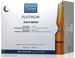 Parfums et Produits cosmétiques Booster en ampoules à l'acide hyaluronique pour visage - MartiDerm Platinum Night Renew Ampollas
