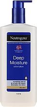 Parfums et Produits cosmétiques Lait corporel hydratation intense à l'huile naturelle pour peaux sèches - Neutrogena Deep Moisture Creamy Oil