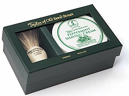 Parfums et Produits cosmétiques Taylor of Old Bond Street Peppermint - Coffret (blaireau de rasage + crème à raser/150g)