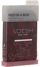 Parfums et Produits cosmétiques Kit pédicure Amour de chocolat - Voesh Deluxe Pedicure Chocolate Love Pedi In A Box 4 in 1