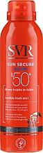 Parfums et Produits cosmétiques Brume fraîche invisible pour peaux hypersensibles au soleil SPF 50+ - SVR Sun Secure Brume Invisible Fresh Mist SPF 50