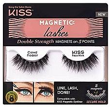 Parfums et Produits cosmétiques Faux-cils magnétiques - Kiss Magnetic Lashes Double Strength KMEL 05 Crowd Pleaser