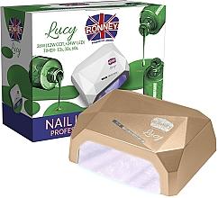 Parfums et Produits cosmétiques Lampe CCFL + LED, dorée - Ronney Profesional Lucy CCFL + LED 38W (GY-LCL-021) Lamp