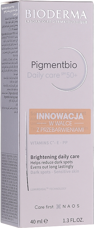 Soin de jour éclaircissant pour peaux sensibles - Bioderma Pigmentbio Daily Care Brightening Daily Care SPF 50+