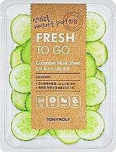 Parfums et Produits cosmétiques Masque tissu au concombre pour visage - Tony Moly Fresh To Go Mask Sheet Cucumber