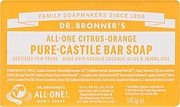 Parfums et Produits cosmétiques Savon bio, Agrumes et Orange - Dr. Bronner's Pure Castile Bar Soap Citrus & Orange