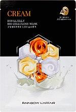 Parfums et Produits cosmétiques Masque tissu à la gelée royale pour le visage - Rainbow L'Affair Royal Jelly Bio Cellulose Mask