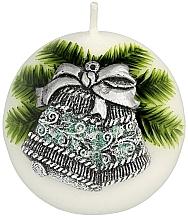 Parfums et Produits cosmétiques Bougie décorative ronde Cloche de Noël, 8 cm - Artman Christmas Bell Candle Ball