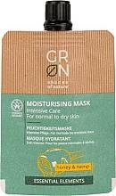 Parfums et Produits cosmétiques Masque au miel et chanvre pour visage - GRN Essential Elements Honey & Hemp Cream Mask