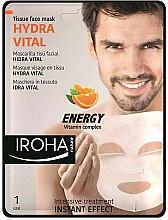 Parfums et Produits cosmétiques Masque tissu aux vitamines C et B pour visage - Iroha Nature Hydra Vital Energy Vitamin Complex Tissue Face Mask