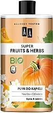 Mousse de bain, Citrouille et Jasmin - AA Super Fruits & Herbs — Photo N1