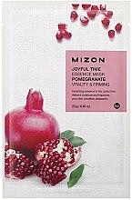 Parfums et Produits cosmétiques Masque tissu à la grenade pour visage - Mizon Joyful Time Essence Mask Pomegranate