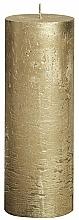Parfums et Produits cosmétiques Bougie cylindrique, or, Metallic Gold, 190/68 mm - Bolsius Candle