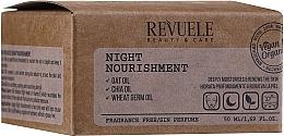 Parfums et Produits cosmétiques Crème de nuit à l'huile d'avoine - Revuele Vegan & Organic Night Nourishment