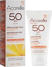 Parfums et Produits cosmétiques Crème solaire pour visage, fini poudré - Acorelle Sunscreen High Protection SPF50