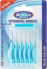 Parfums et Produits cosmétiques Brossettes interdentaires, 0,6mm, bleu - Beauty Formulas Active Oral Care Interdental Brushes Blue
