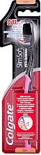 Parfums et Produits cosmétiques Brosse à dents à fils de soie avec charbon actif, souple, noir-rose - Colgate Toothbrush
