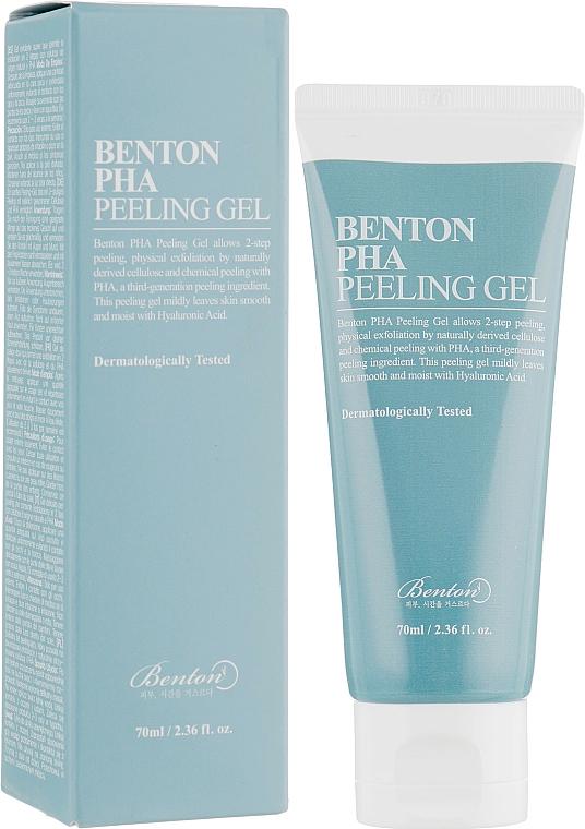 Gel exfoliant à l'acide hyaluronique pour visage - Benton PHA Peeling Gel
