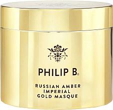 Parfums et Produits cosmétiques Masque à l'huile d'amande marocaine pour cheveux - Philip B Russian Amber Imperial Gold Masque