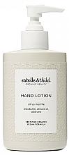 Parfums et Produits cosmétiques Lotion à l'aloe vera pour mains, Menthe citronnée - Estelle & Thild Citrus Menthe Hand Lotion