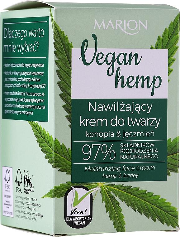 Crème à l'huile de chanvre pour visage - Marion Vegan Hemp Moisturizing Face Cream Hemp & Barley