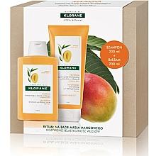 Parfums et Produits cosmétiques Klorane Mango - Set (shampooing/100ml + après-shampooing/200ml)