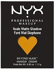 Parfums et Produits cosmétiques Fard à paupières mat - NYX Professional Matte Shadow Beyond Nude