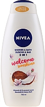 Parfums et Produits cosmétiques Gel et bain moussant 2 en 1, Noix de Coco et Amande - Nivea Welcome Sunshine Body Wash Limited Edition