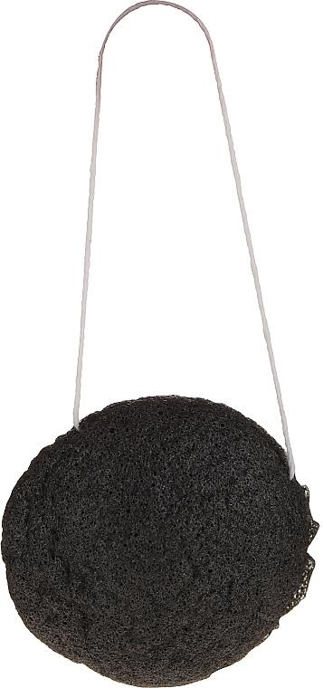 Éponge Konjac naturelle au charbon de bambou pour visage - Bio4You — Photo N2