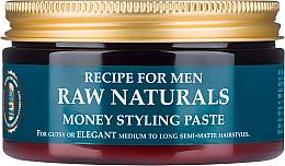 Parfums et Produits cosmétiques Pâte coiffante à finition mate et tenue flexible - Recipe For Men RAW Naturals Money Styling Paste