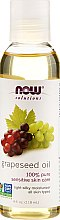 Parfums et Produits cosmétiques Huile de pépins de raisin 100 % pure - Now Foods Solutions Grapeseed Oil