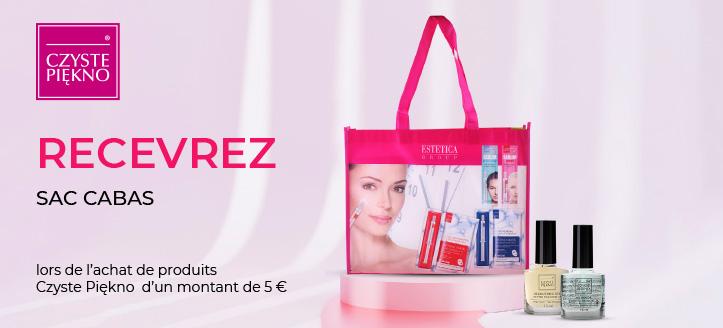 Lors de l'achat de produits Czyste Piękno d'un montant de 5 €, vous recevrez un sac cabas en cadeau
