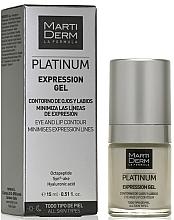 Parfums et Produits cosmétiques Gel à l'acide hyaluronique contour des yeux et des lèvres - MartiDerm Platinum Expression Gel