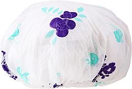 Parfums et Produits cosmétiques Bonnet de douche, 9298, blanc-violet - Donegal Shower Cap