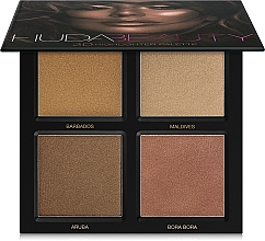 Parfums et Produits cosmétiques Palette professionnelle d'enlumineurs - Huda Beauty 3D Highlighter Palette