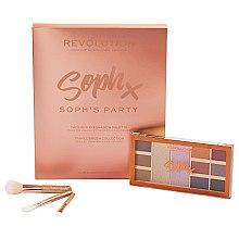 Parfums et Produits cosmétiques Set (palette de fards à paupières/9x1,1g,2x5,2g + pinceau de maquillage/3pcs) - Makeup Revolution Soph's Party