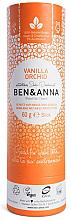 Parfums et Produits cosmétiques Déodorant naturel au bicarbonate de soude Vanille (tube en carton) - Ben & Anna Natural Soda Deodorant Paper Tube Vanilla Orchid