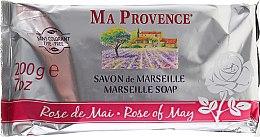 Parfums et Produits cosmétiques Savon de Marseille, Rose de mai - Ma Provence Marseille Soap Rose of May