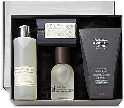 Parfums et Produits cosmétiques Bath House Spanish Fig and Nutmeg - Coffret cadeau (eau de cologne/100ml + gel doouche/260ml + baume après-rasage/100ml + savon/150g)