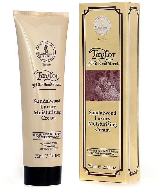 Crème pour visage, Bois de santal - Taylor of Old Bond Street Sandalwood Moisturising Cream