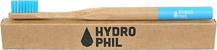 Brosse à dents en bambou biodégradable, medium, bleu - Hydrophil Bambus Toothbrush — Photo N3