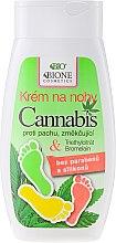Parfums et Produits cosmétiques Crème à l'huile de chanvre pour pieds - Bione Cosmetics Cannabis Foot Cream With Triethyl Citrate And Bromelain