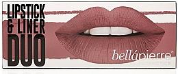 Parfums et Produits cosmétiques Kit (crayon lèvres/1.5 g + touge à lèvres/3.5g) - Bellapierre Lipstick & Liner Duo